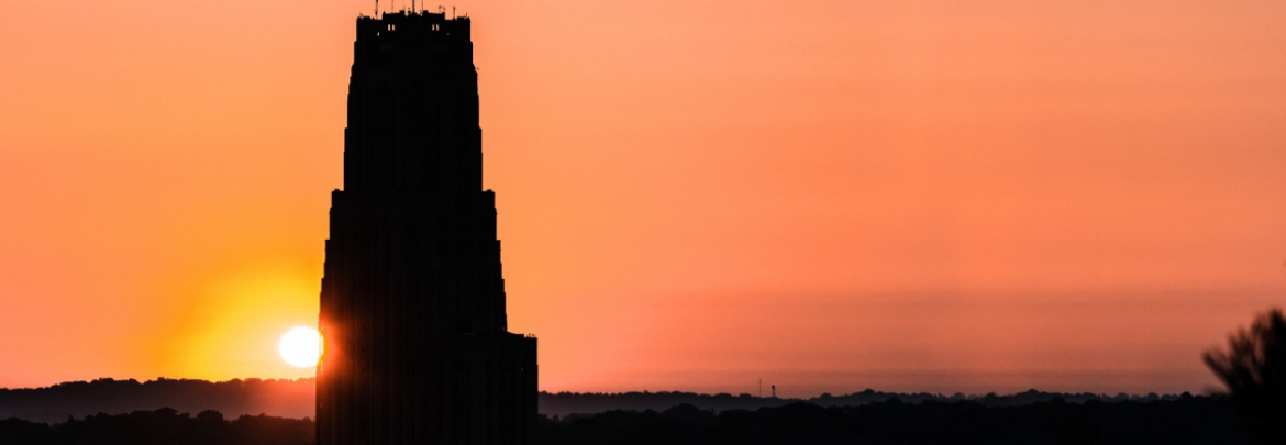 sunrise over the Cathedral of Learning